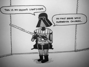 Darth expliains about his saber