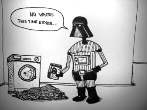 vader does a dark wash