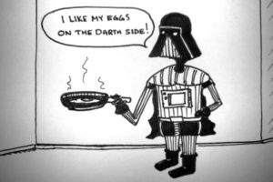 vader with frying pan