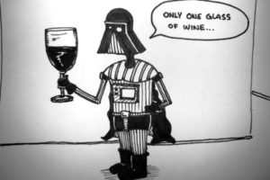 Vader with a Glass of wine