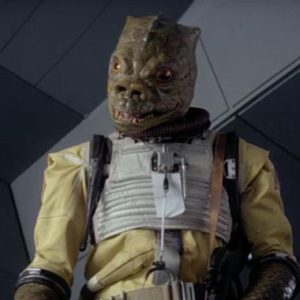 Bossk delivers his one line. Courtesy of LucasFilm/Disney.