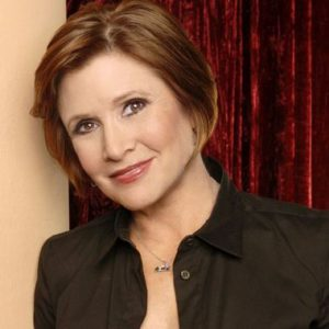 Carrie Fisher as an older woman
