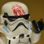 Lego star wars trooper with blood on helmet