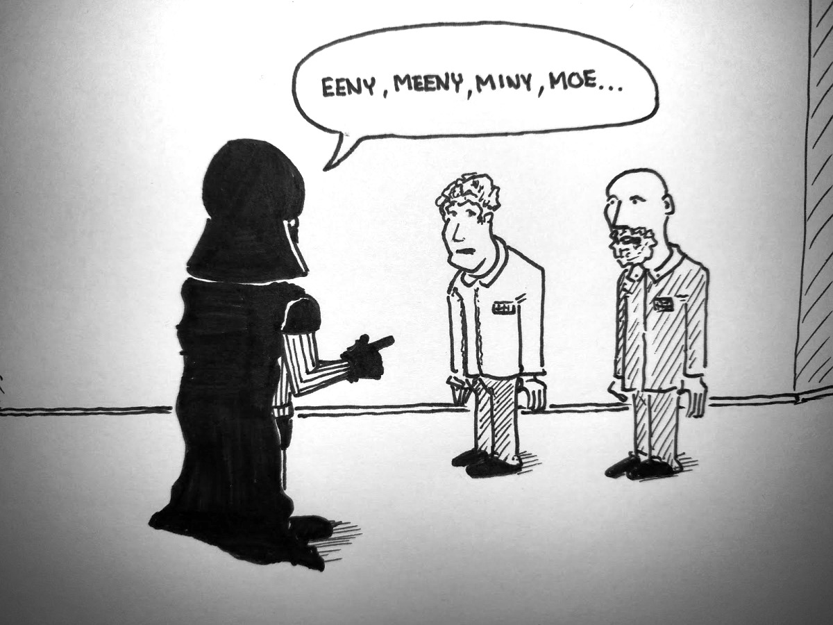 Darth chooses a victim