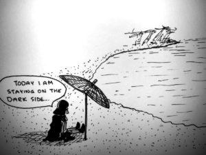 Darth on a beach