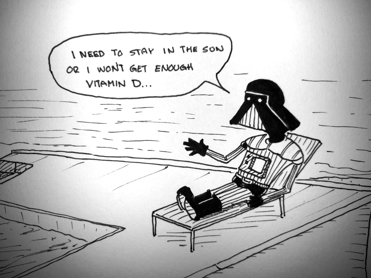 Darth Sunbathes
