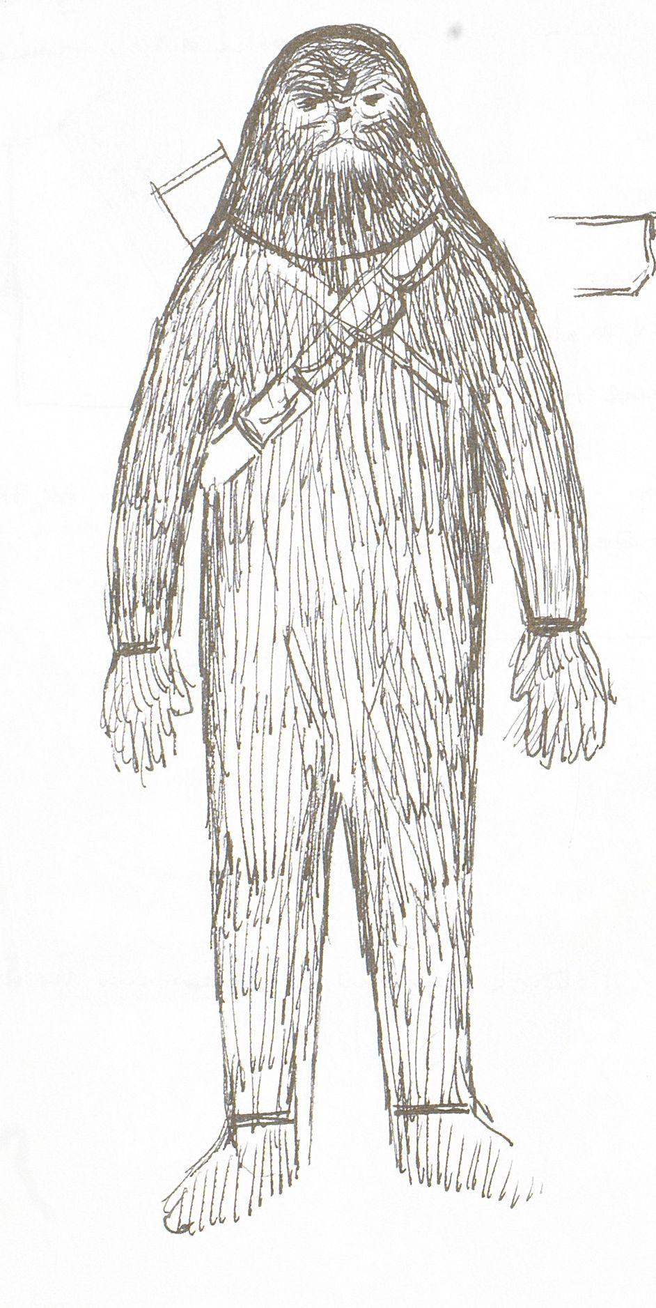 Sketch of Chewbacca